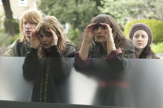 Still Of Keira Knightley Carey Mulligan Domhnall Gleeson And Andrea Riseborough In Never Let Me Go