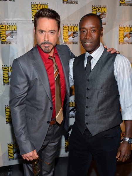 Comic Con Robert Downey Jr Don Cheadle