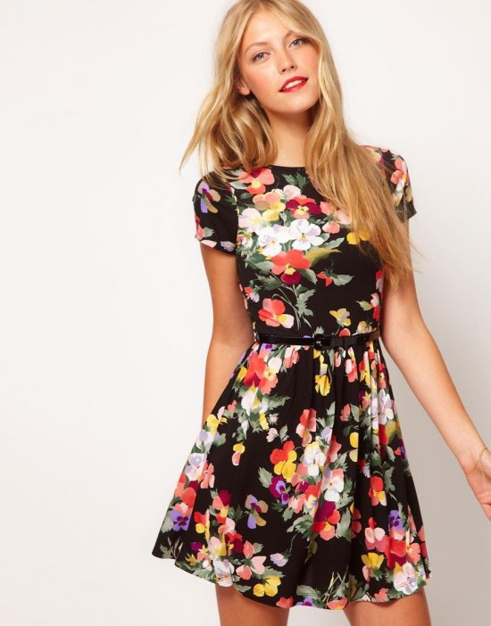 Floral Print Day Dress Day
