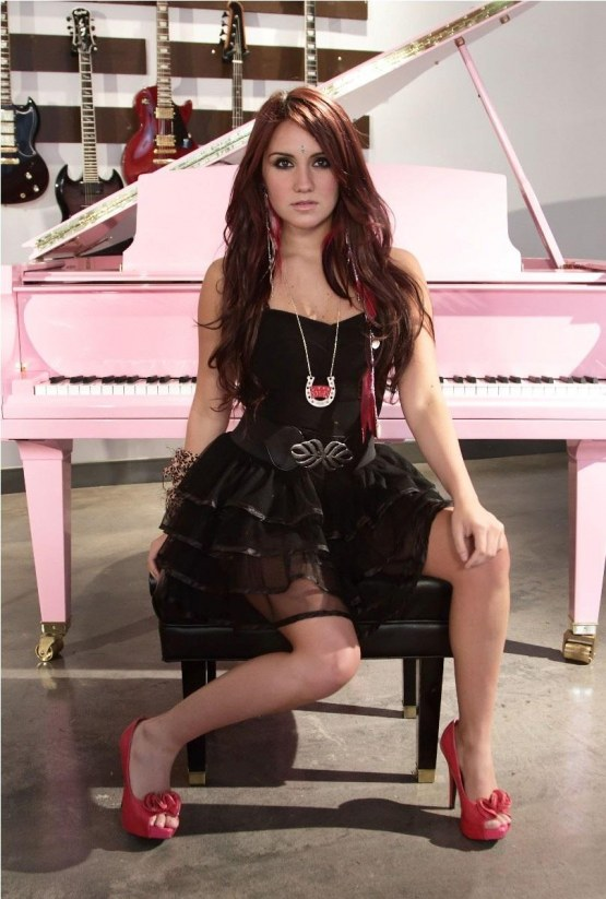 Dulce Maria Photoshoot For Miami Guitar Showroom Hot