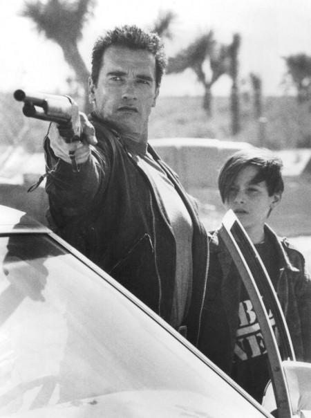 Still Of Arnold Schwarzenegger And Edward Furlong In Terminator Ziua Judecatii