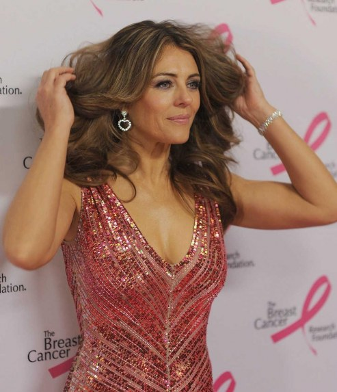Elizabeth Hurley In Nyc Pink Party