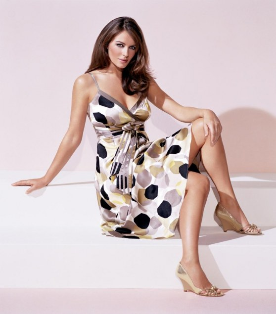 Elizabeth Hurley Jonathan Bookallil Photoshoot Bedazzled Outfits