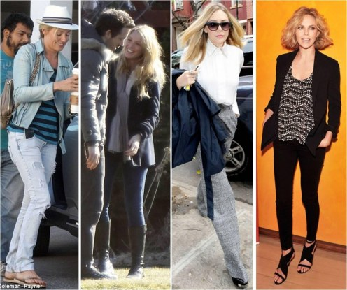 Looks Loved This Weekend Casual Cat Deeley Blake Lively Elizabeth Olsen Charlize Theron Fashion