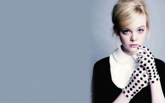 Elle Fanning Marie Claire Polka Dot Wallpaper