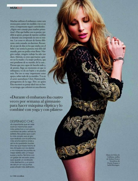 Elsa Pataky In Elle Spain Magazine August
