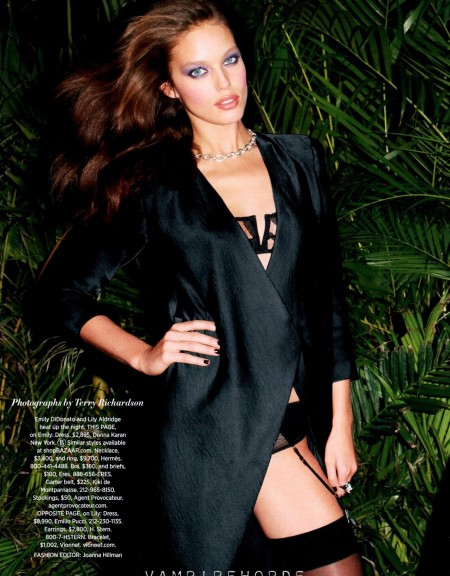 Fashion Scans Remastered Lily Aldridge Emily Didonato Harpers Bazaar Usa March Scanned By Vampirehorde Hq Erin Wasson