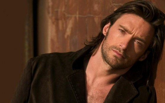 Hugh Jackman Actor Brown Jacket Long Hair Brown Hair