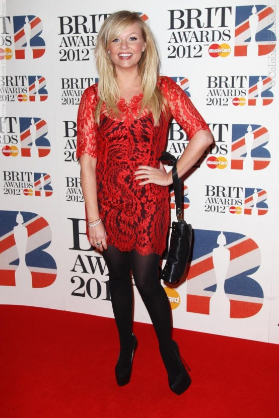 Emma Bunton Arrival At The Brit Awards