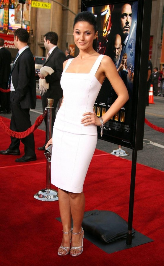 Emmanuelle Chriqui Iron Man Premiere In Hollywood Body