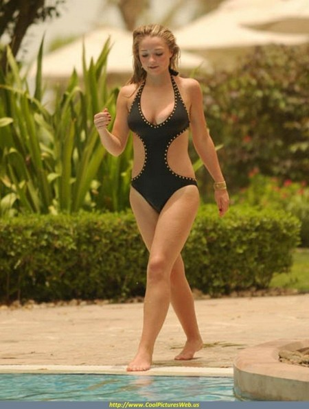 Emma Rigby Swimsuit Shoot