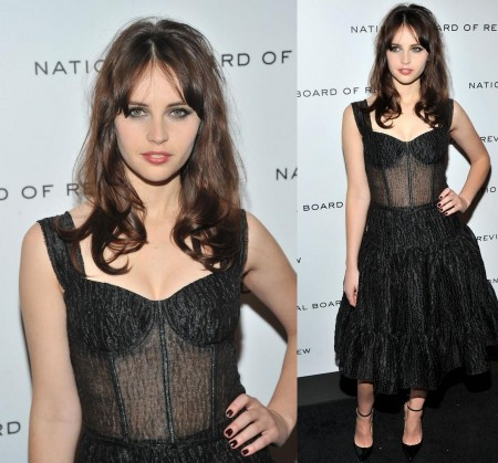 Felicity Jones In Dolce Gabbana Spring National Board Of Review Awards Gala