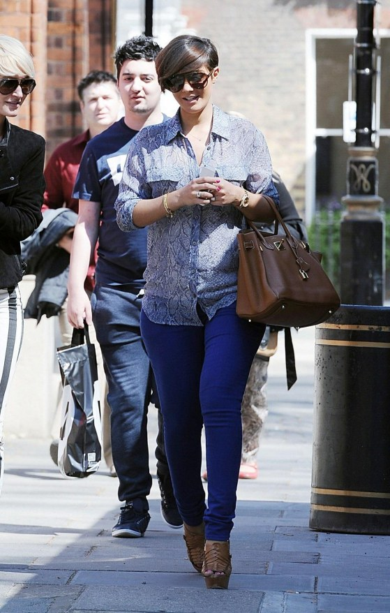 Frankie Sandford Out And About In London On May