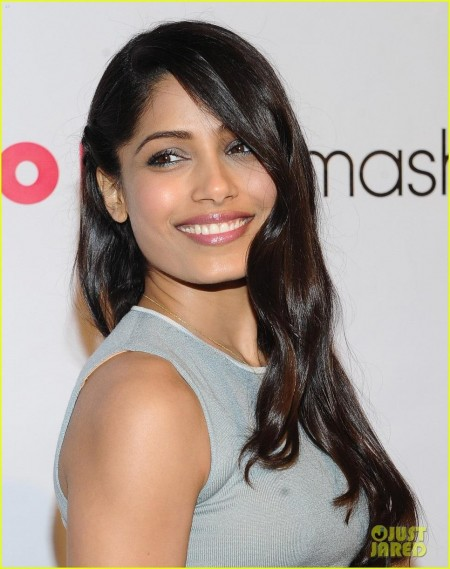 Freida Printo Flaming Car Dress For Nylon Party Freida Pinto