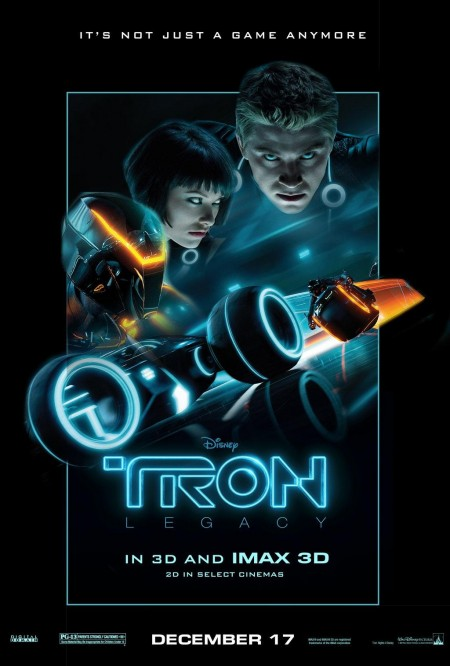 Tron Legacy Floating Heads Poster Tron
