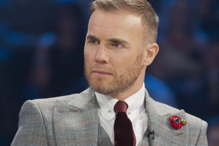 Gary Barlow Wearing Bling Poppy Pic Rex Features Hot