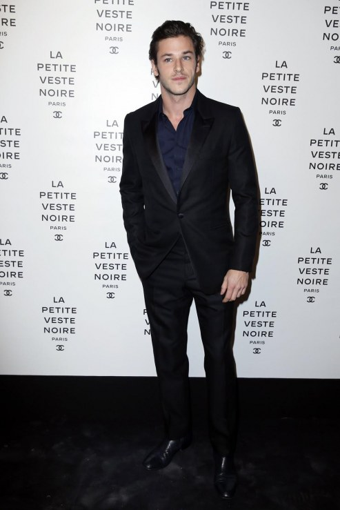 Little Black Jacket Paris Photocall By Olivier Borde Gaspard Ulliel Black And White