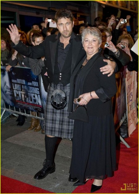 Gerard Butler Kilt Law Abiding Citizen Glasgow