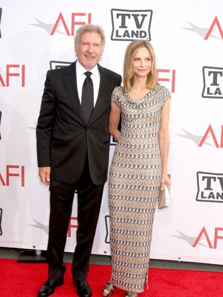 Harrison Ford Calista Flockhar And Calista Flockhart