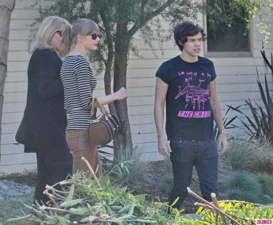 Harry Styles Spends The Night At Taylor Swifts Home In Los Angeles House
