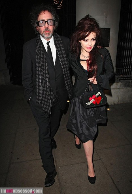 Helena Bonham Carter And Tim Burton Dinner Date In London