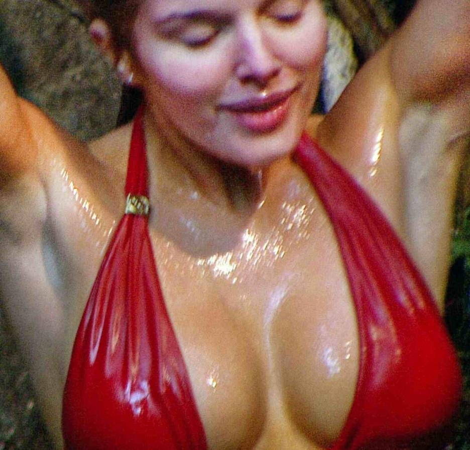 Helen Flanagan In Red Bikini In Waterfall Shower On Im Celebrity