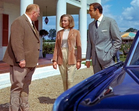Still Of Sean Connery Honor Blackman And Gert Frxf Be In Goldfinger