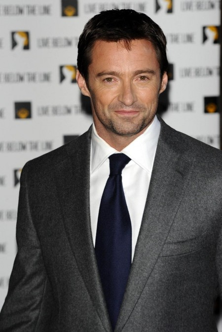 Hugh Jackman Grey Suit White