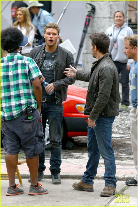 Jack Reynor And Mark Wahlberg On The Set Of Transformers Movie Image