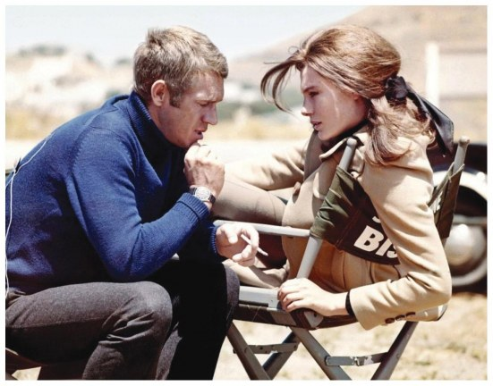 Mcqueen And His Comely Costarc Jacqueline Bisset Share Smoke On The San Francisco Set Max Bisset