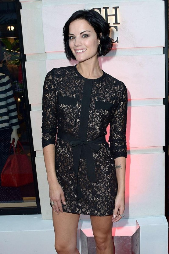 Jaimie Alexander Carolina Herrera Rodeo Drive Boutique Opening Fashion