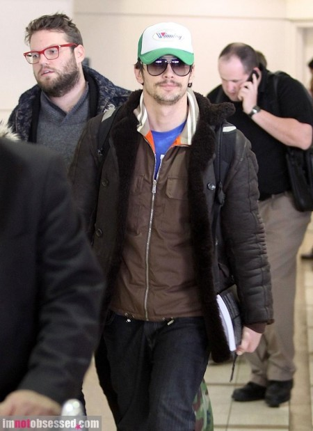 James Franco Touches Down At Lax On Jan