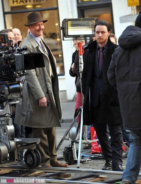 James Mcavoy Spotted On Filth Set Filth