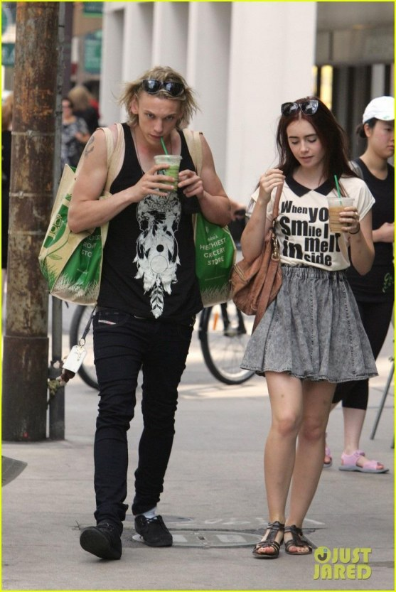 Lily Collins Melts Inside With Jamie Campbell Bower