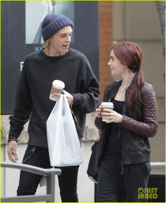 Lily Collins Morning Coffee Jamie Campbell Bower