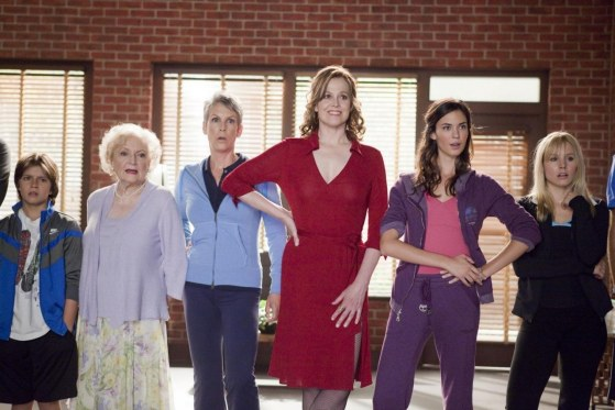 Betty White Jamie Lee Curtis Sigourney Weaver Odette Yustman And Kristen Bell In You Again Parents