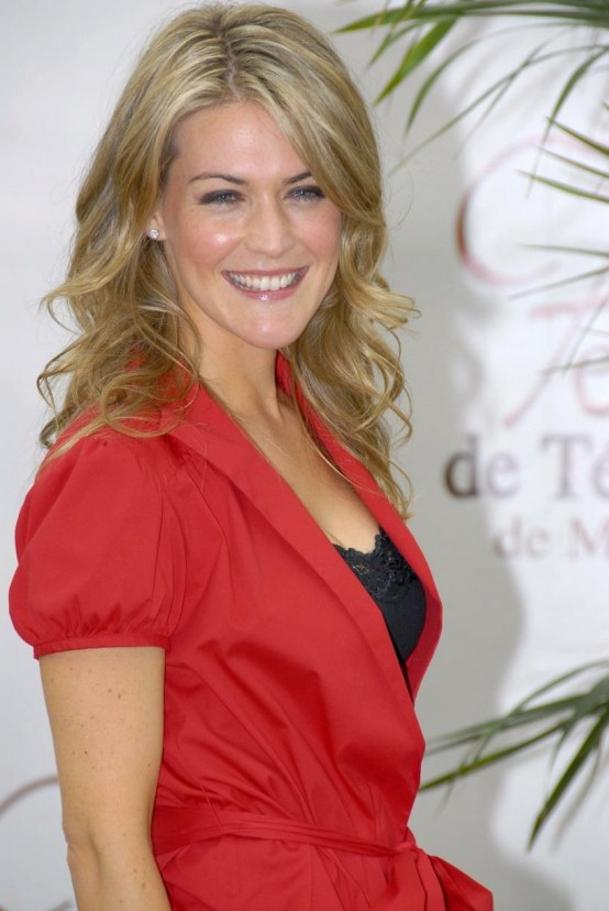 Jenni Baird Nice Red Black Outfit Jenni Baird Photocall At The Th Monte Carlo Television Festival