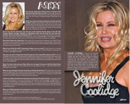 Jennifer Coolidge Gloss Magazine