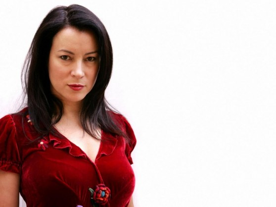 Jennifer Tilly Red Sweater Black And White
