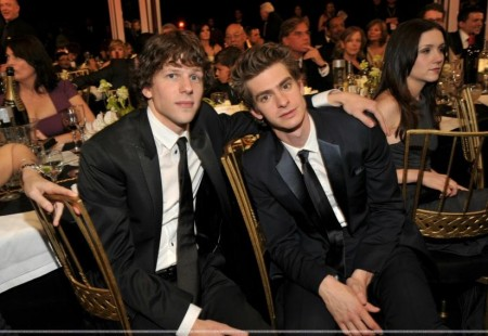 January Th Th Annual Screen Actors Guild Awards Backstage Audience Andrew Garfield And Jesse Eisenberg