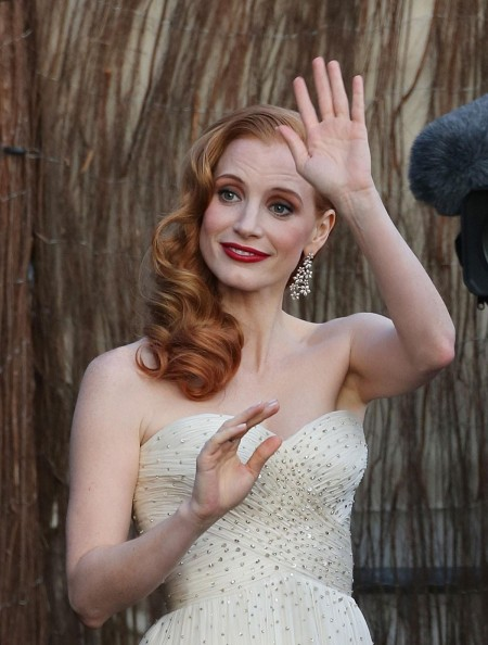 Jessica Chastain At Le Grand Journal Tv Show At Cannes Film Festival
