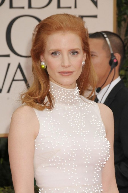 Jessica Chastain At Th Annual Golden Globe Awards In Los Angeles