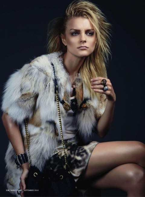 Jessica Stam By David Roemer Grand Stam Marie Claire Us September Model