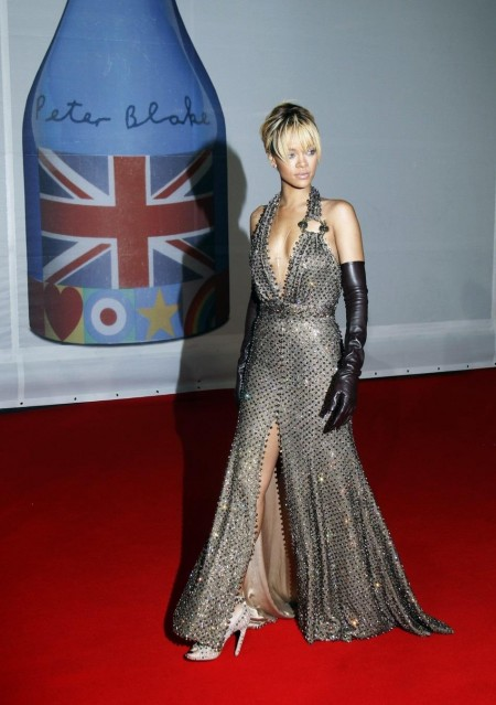 Rihanna Arrives For The Brit Music Awards At The Arena In London Brit Awards