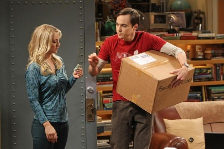 Picture Of Kaley Cuoco And Jim Parsons In The Big Bang Theory Large Picture The Big Bang Theory
