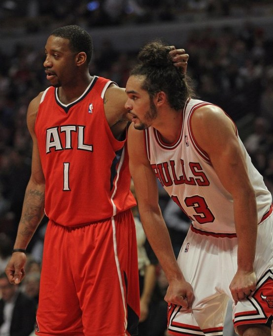 Tracy Mcgrady Joakim Noah Atlanta Hawks Cv Yuq Plrx Hair