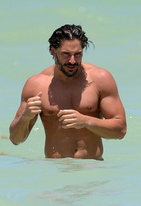 Joe Manganiello Shirtless Swimming