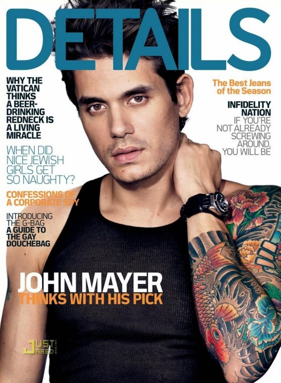 John Mayer Details Magazine December Rob Dyrdek