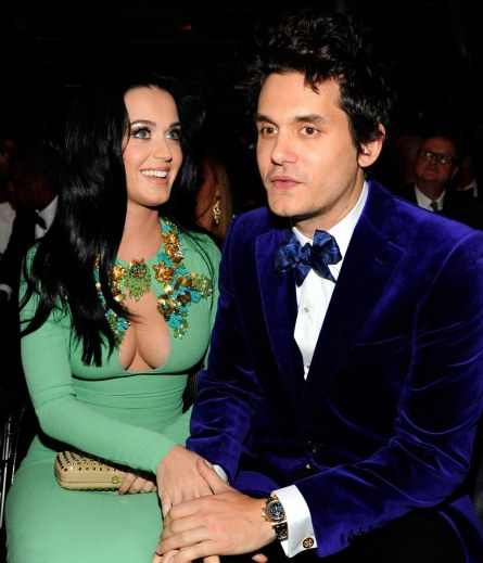 Katy Perry With John Mayer Wearing Patek Philippe At Grammys