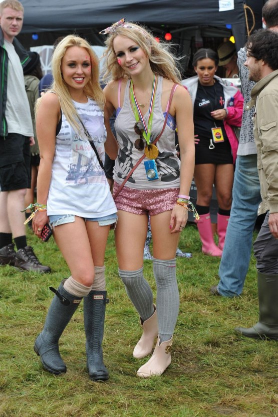 Jorgie Porter And Holly Weston At At The Festival In Staffordshire Boyfriend